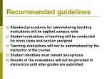recommended guidelines