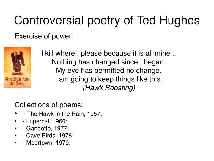 poetry commentary hawk roosting ted hughes
