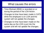 what causes the errors