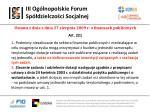 iii og lnopolskie forum sp dzielczo ci socjalnej7