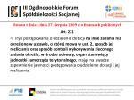 iii og lnopolskie forum sp dzielczo ci socjalnej8