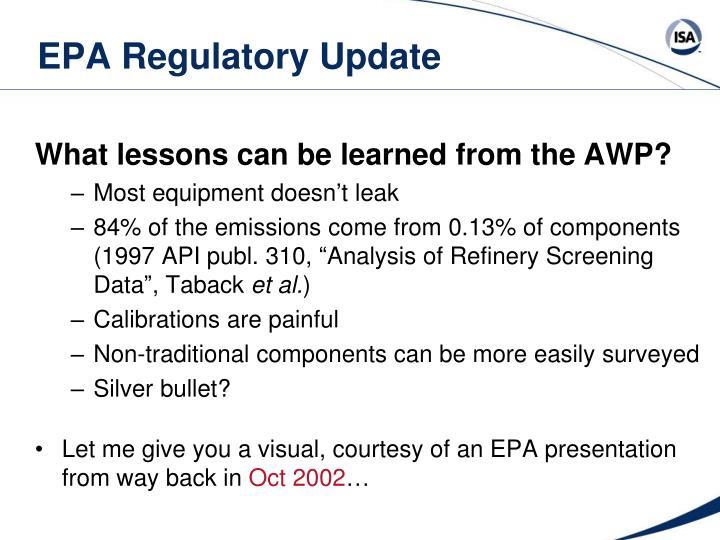 EPA Regulatory Update