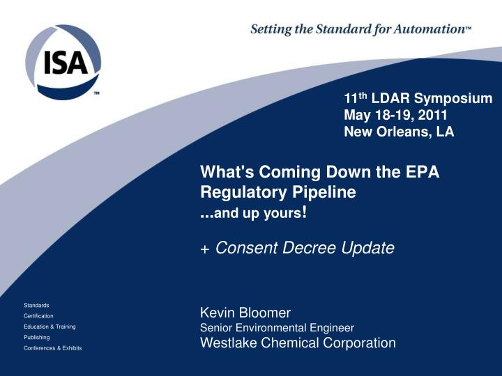 What s coming down the epa regulatory pipeline and up yours