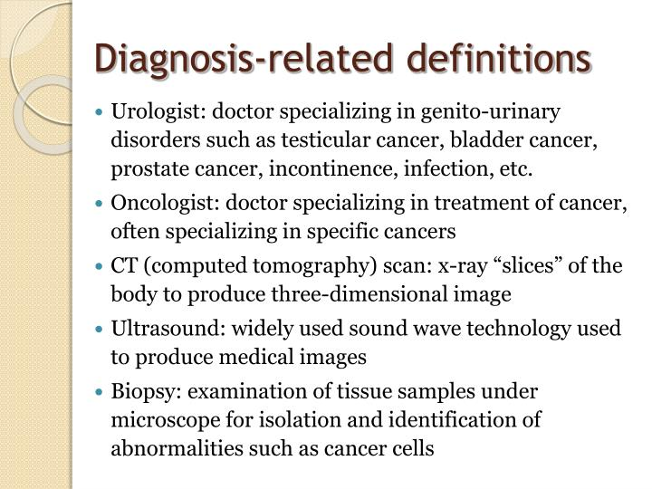 Diagnosis-related definitions