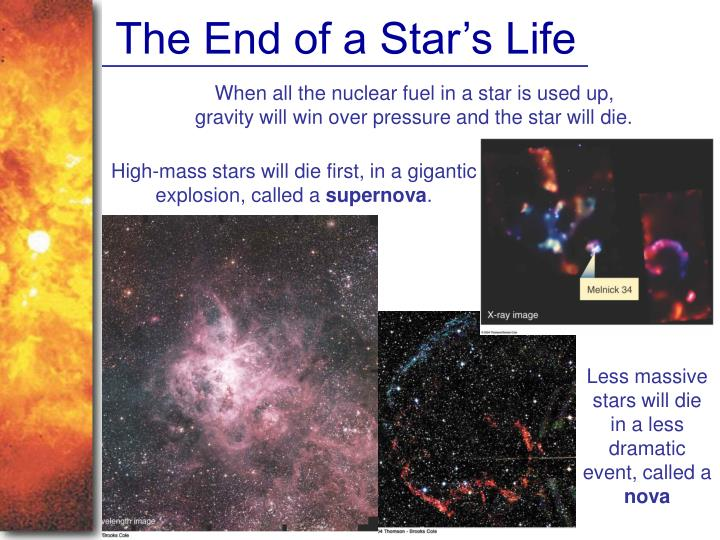 The End of a Star's Life
