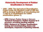 historically development of rubber smallholders in vietnam