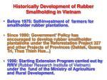 historically development of rubber smallholding in vietnam