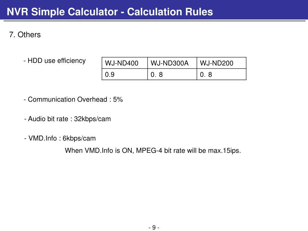 PPT - NVR Simple Calculator - Main Window PowerPoint