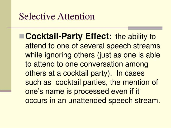 Selective attention1