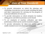 uses of time standards