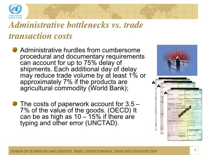 Administrative bottlenecks vs. trade