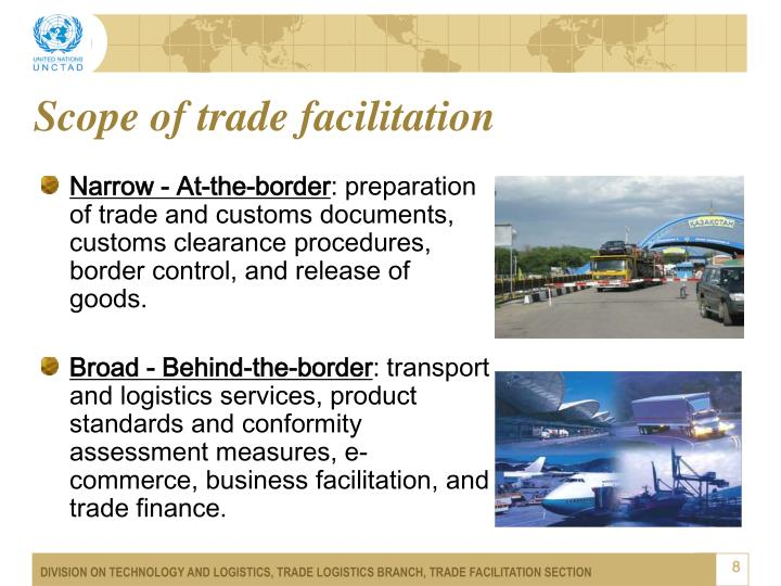 Scope of trade facilitation