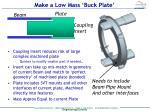 make a low mass buck plate