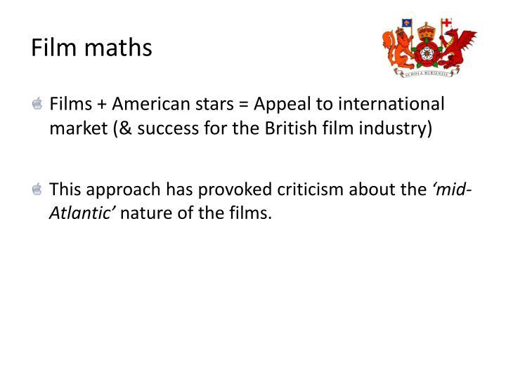 Film maths