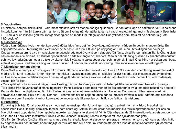 5. Vaccination