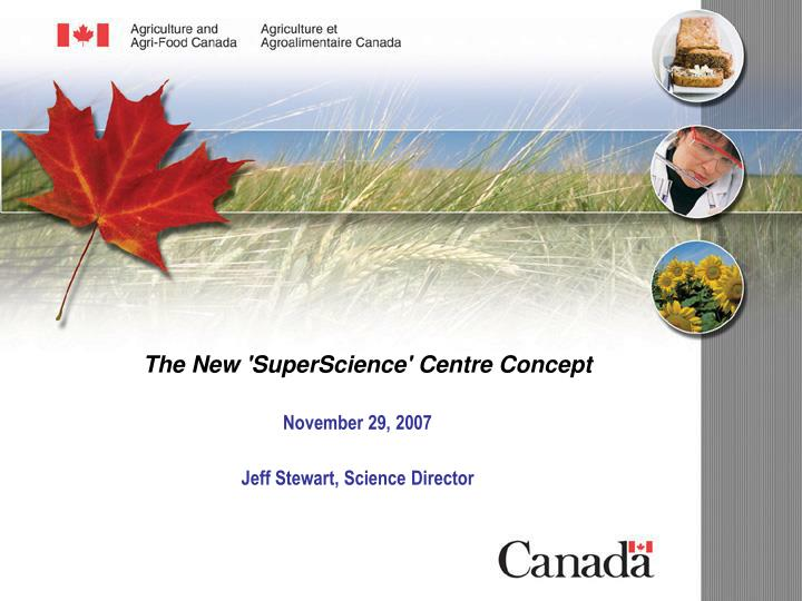 the new superscience centre concept n.