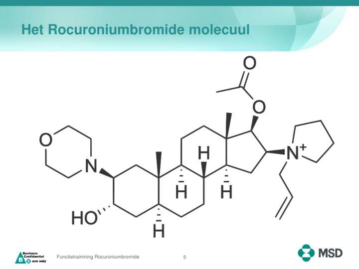 Het Rocuroniumbromide molecuul
