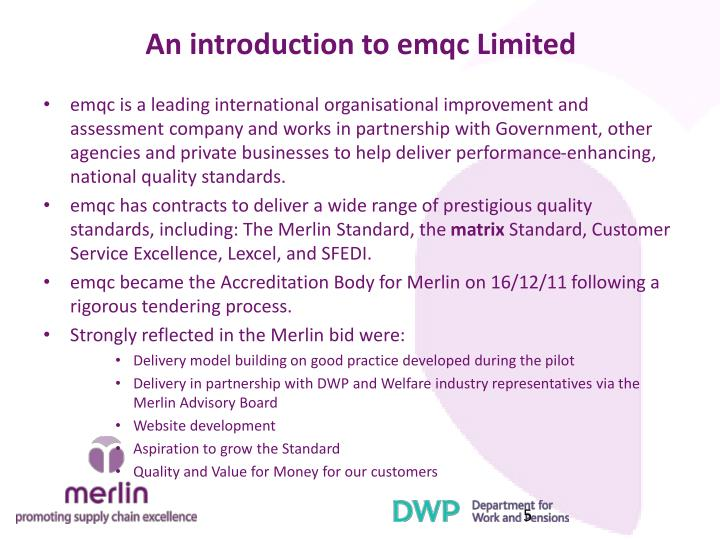 An introduction to emqc Limited