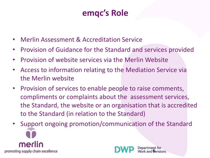 emqc's Role