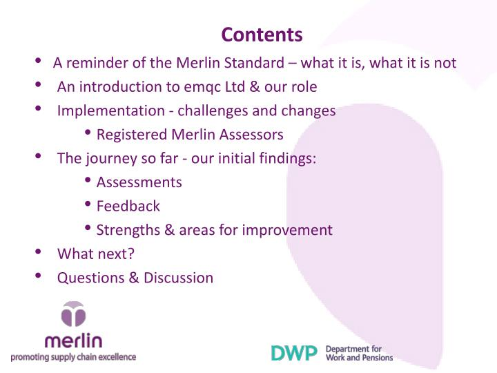 A reminder of the Merlin Standard – what it is, what it is not