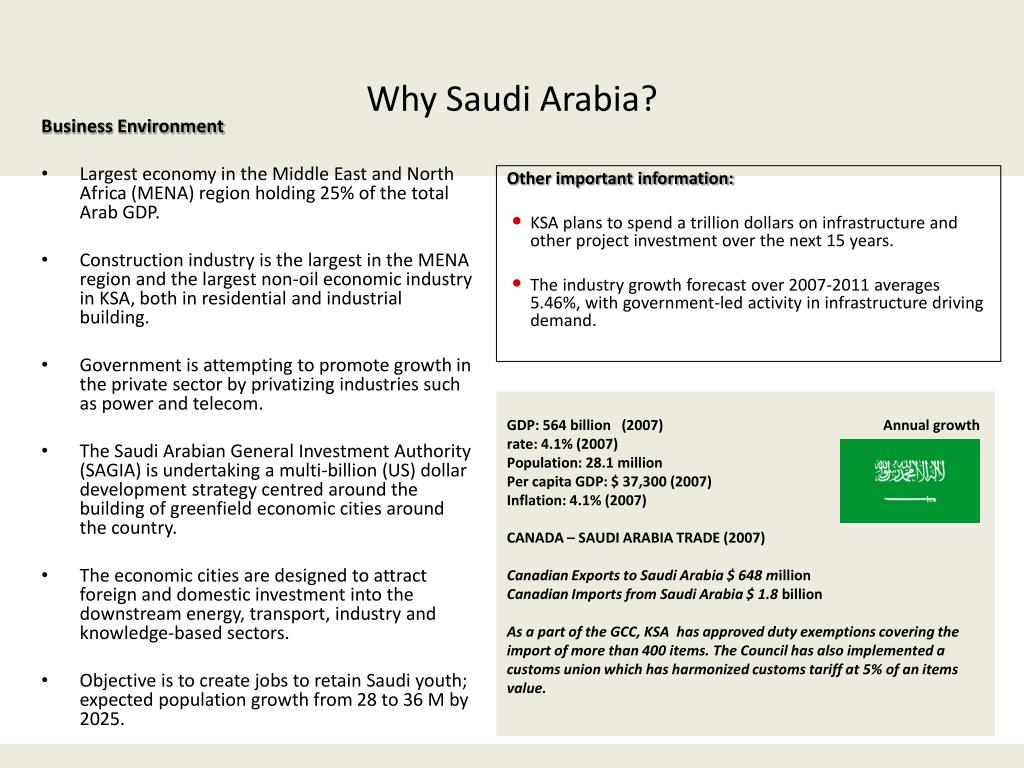 PPT - OPPORTUNITIES IN THE CONSTRUCTION INDUSTRY KINGDOM OF SAUDI