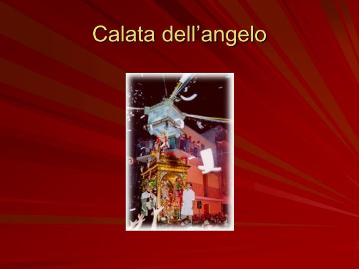 Calata dell'angelo