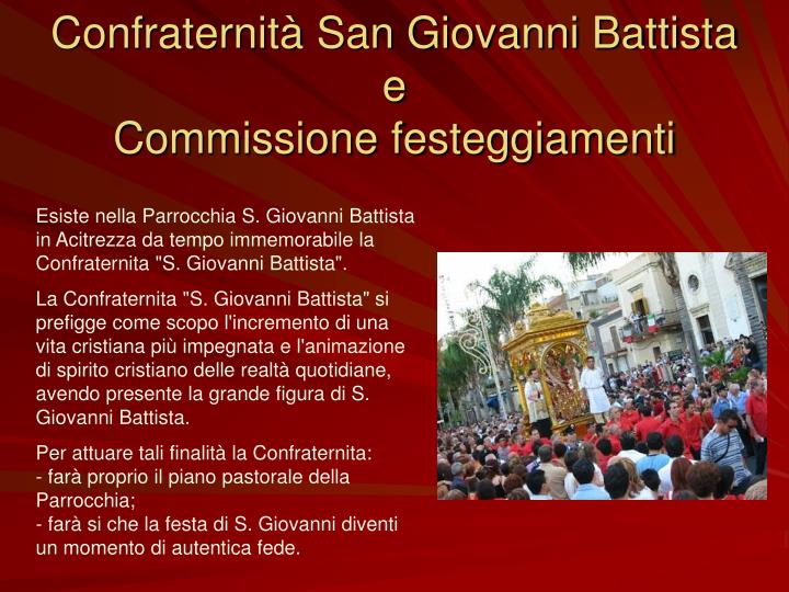 Confraternità San Giovanni Battista