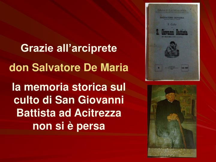 Grazie all'arciprete