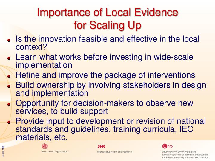 Importance of Local Evidence