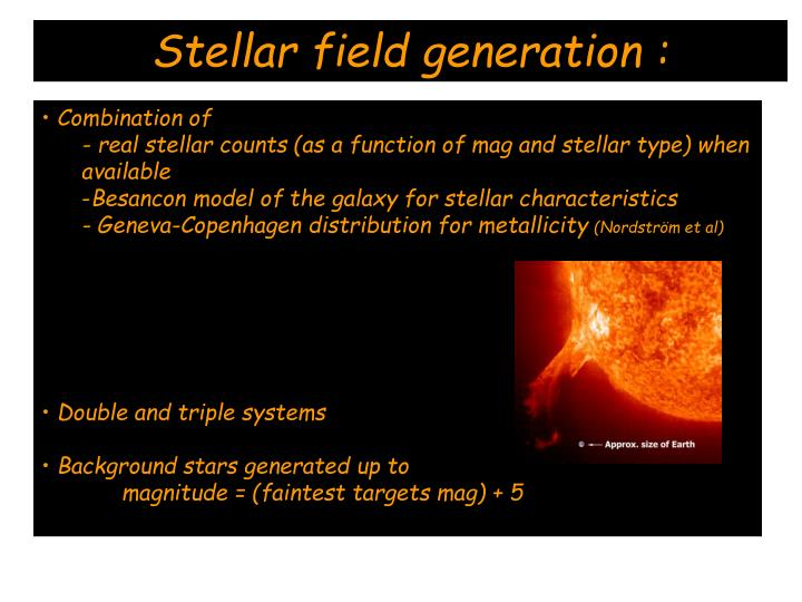 Stellar field generation :