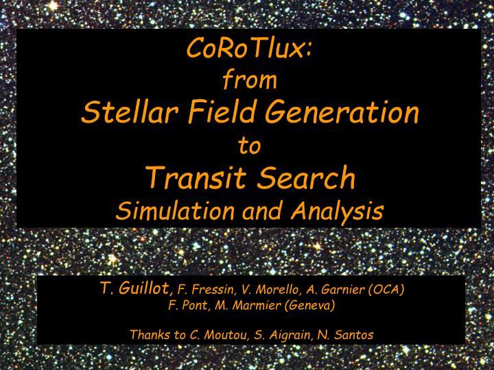 CoRoTlux: