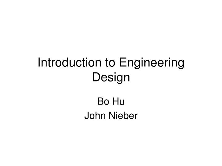 introduction to engineering design n.
