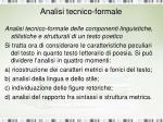 analisi tecnico formale