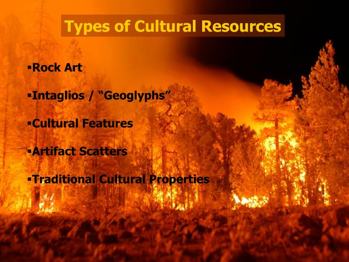 Types of Cultural Resources