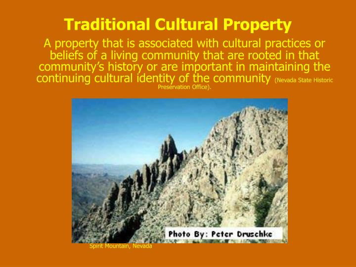 Traditional Cultural Property