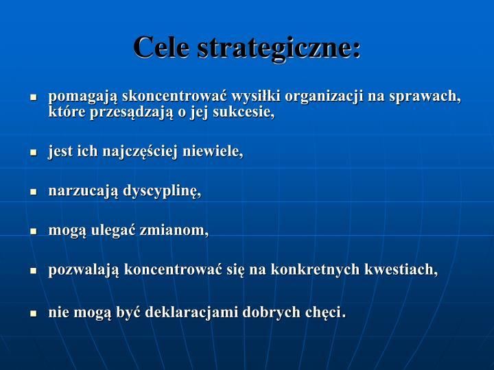 Cele strategiczne: