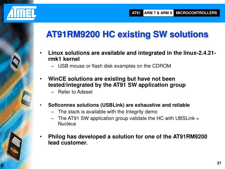 AT91RM9200 HC existing SW solutions
