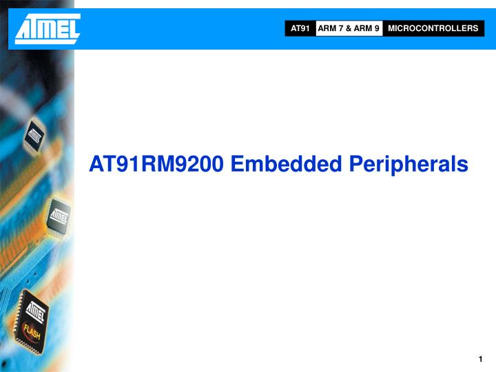 AT91RM9200 Embedded Peripherals