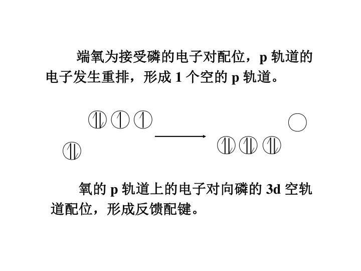 端氧为接受磷的电子对配位,