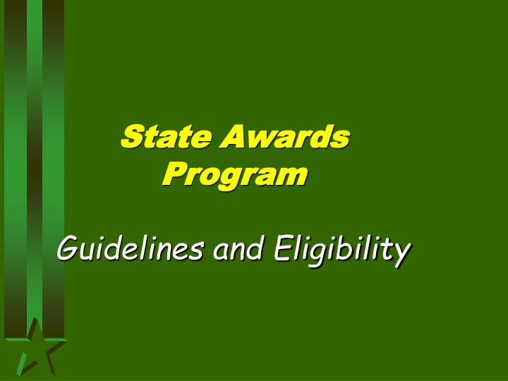 ppt - 4-h awards program powerpoint presentation