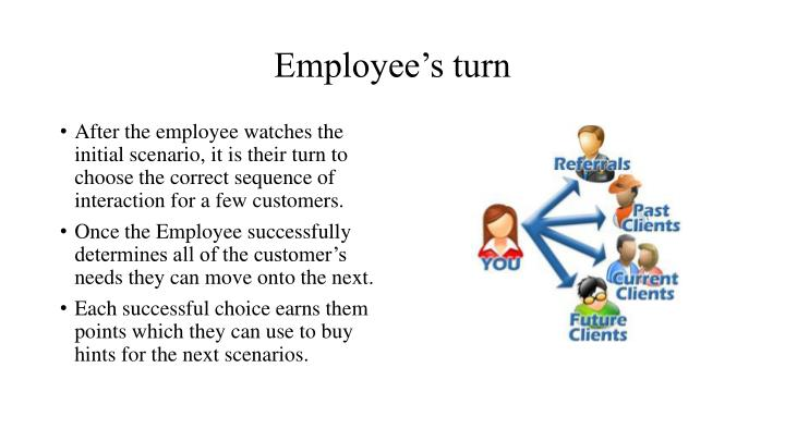 Employee's turn