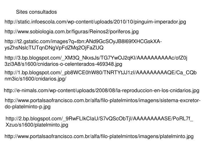 Sites consultados