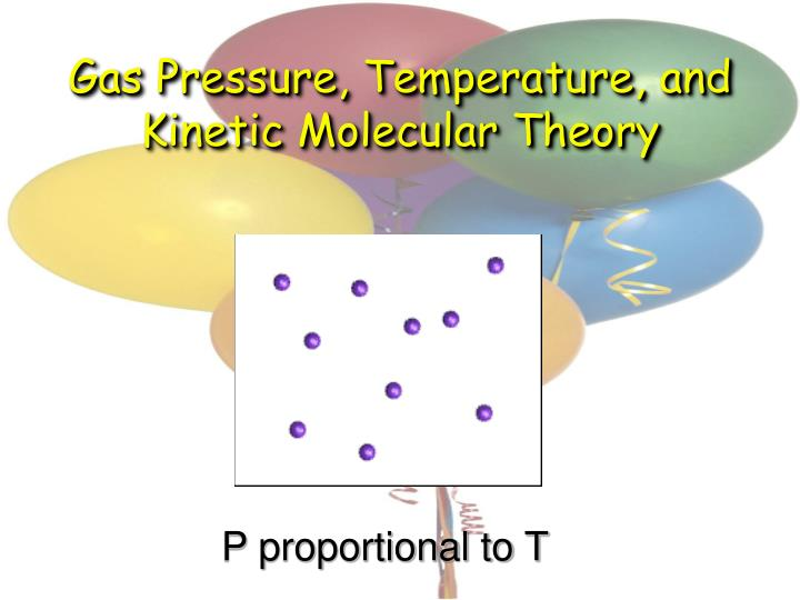 Gas Pressure, Temperature, and Kinetic Molecular Theory
