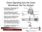 direct signaling from the outer membrane the fec system