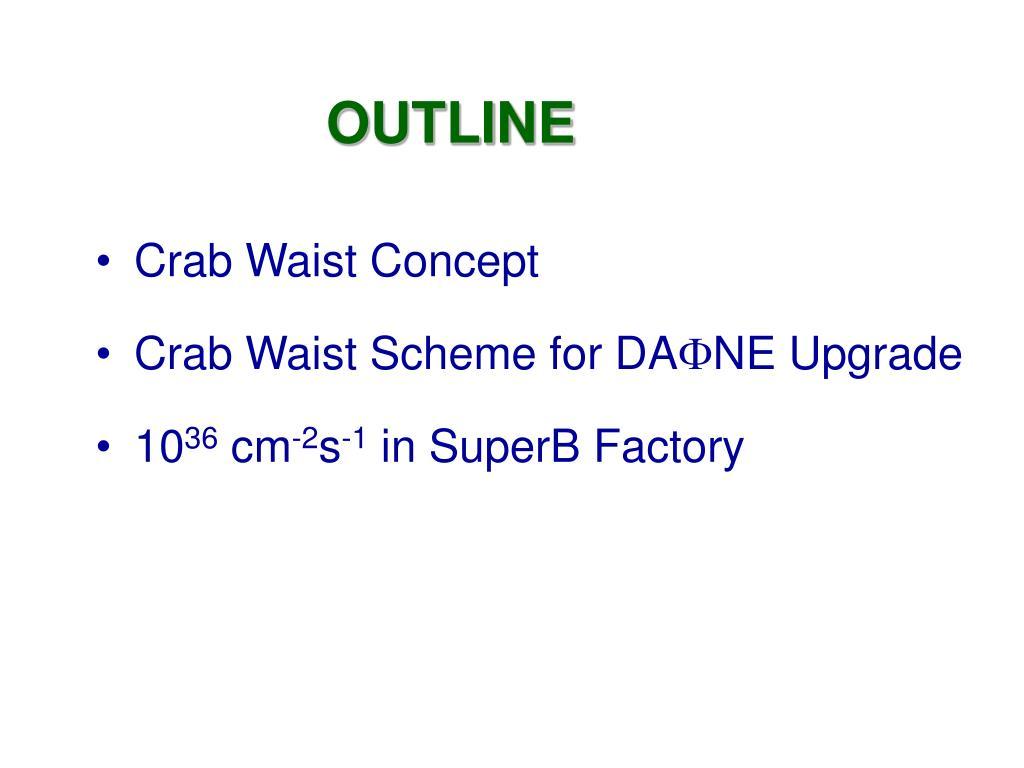 PPT - Crab Waist Collision Studies for e+e- Factories ...