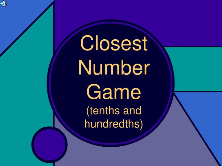PPT Closest Number Game Tenths And Hundredths PowerPoint
