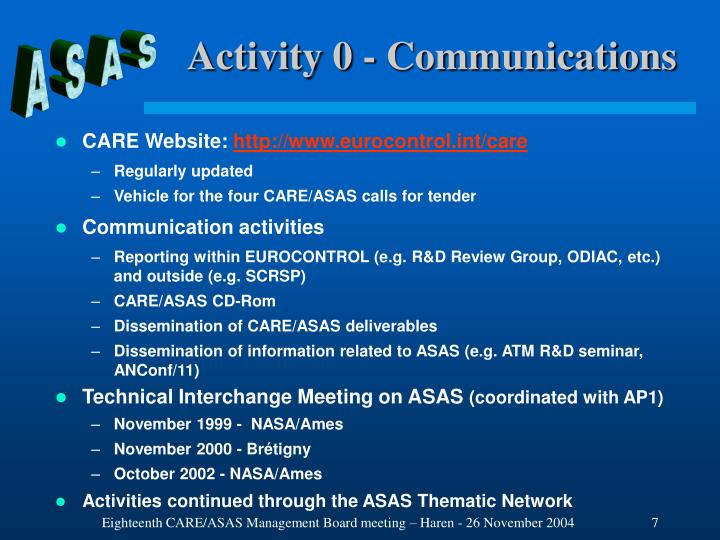 Activity 0 - Communications