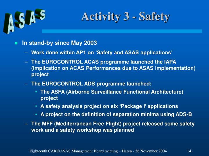 Activity 3 - Safety