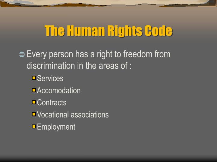 The Human Rights Code