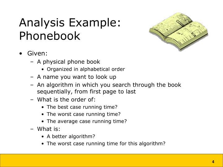 Analysis Example: